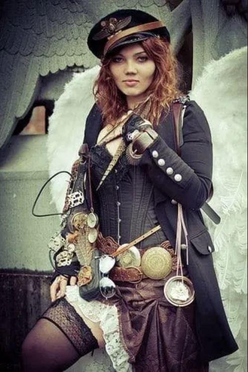 steampunk femme aviateur